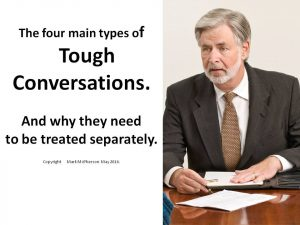 The 4 main types of Tough Conversations.