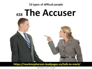 The Accuser: one of the 52 types of difficult people I've documented.