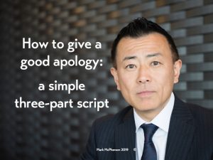 How to give a good apology: a three-step formula