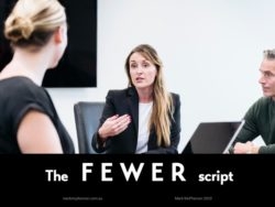 How to tell someone their behaviour is unacceptable: the FEWER script